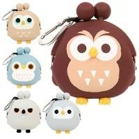 フクロウ3Dポーチ 3D POCHI OWL <br>フクロウ/ふくろう/雑貨/シリコン/がま口/財布/小物入れ/シリコンポーチ/シリコンがまぐち/かわいい/キャラクター/コインケース