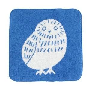 今治製ジャガード織 タオルハンカチ フクロウ(014-106)